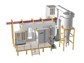 Auto Powder Coating Booths