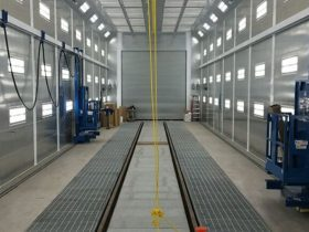 Large Industrial Paint Booth
